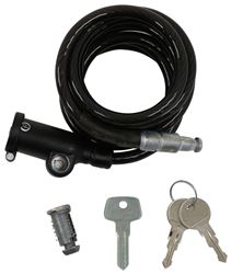 "MOTORCYCLE BICYCLE ATV CABLE SAFETY SECURITY LOCK 44/"" LENGTH HEAVY DUTY KEYED"