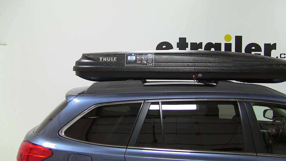 2009 Subaru Outback Wagon Thule Pulse Alpine Rooftop Cargo Box 11 Cu Ft Matte Black