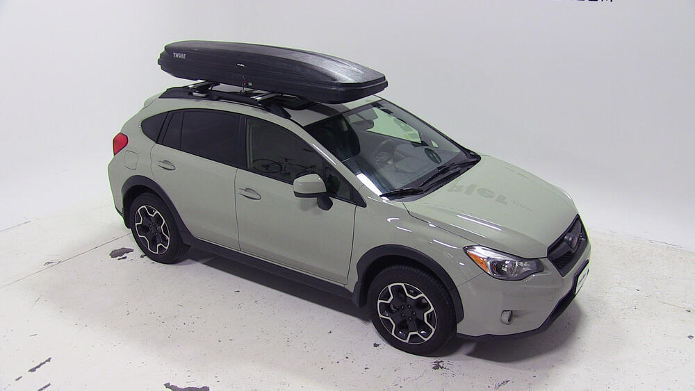Subaru Xv Crosstrek Thule Pulse Alpine Rooftop Cargo Box 11 Cu Ft Matte Black