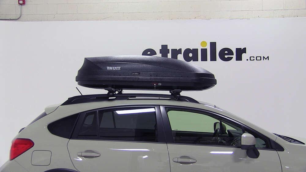 Subaru Xv Crosstrek Thule Pulse Medium Rooftop Cargo Box 14 Cu Ft Matte Black