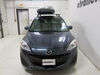 Thule Pulse Large Rooftop Cargo Box - 16 cu ft - Matte Black Large Capacity TH615 on 2012 Mazda 5