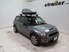 Thule Sidekick Roof Mounted Cargo Carrier Box - U-Bolt Mounts - 8 Cubic Feet Extra Small Capacity TH682 on 2010 Mini Clubman