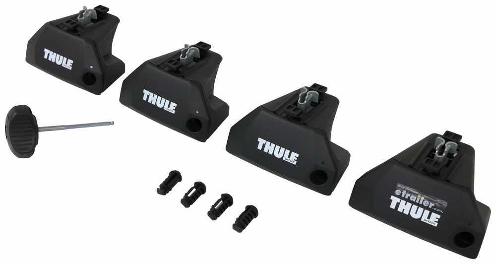 Evo Flush Rail Feet for Thule Crossbars - Flush Side Rails - Qty 4 Locks Not Included TH710601