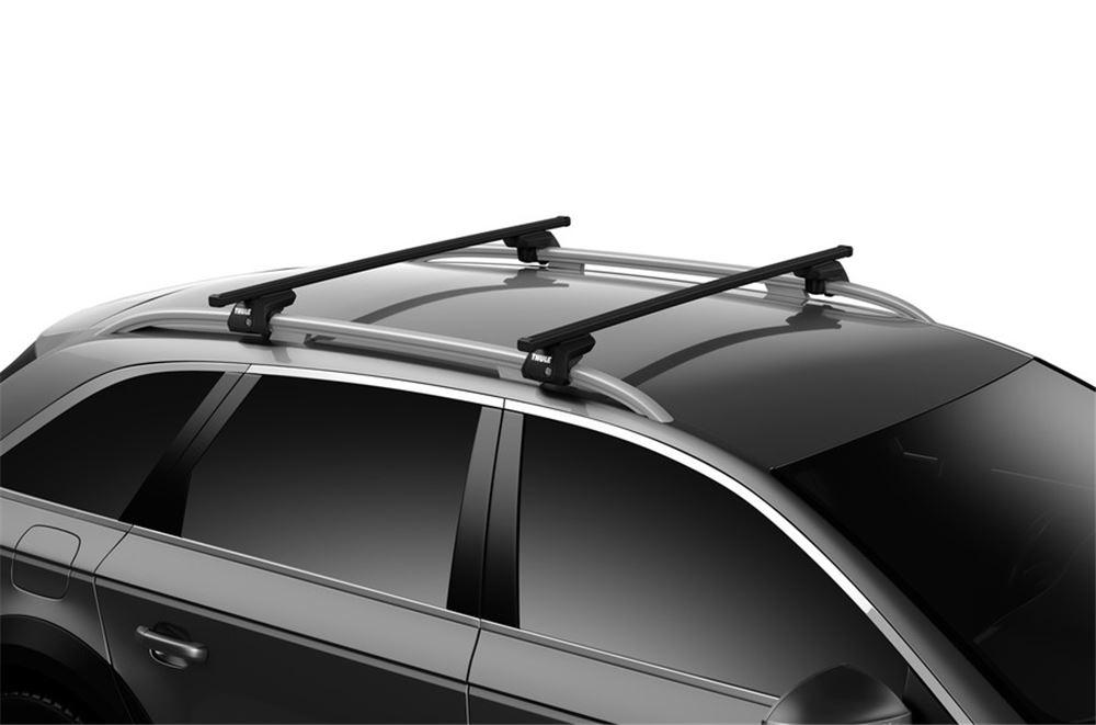 Black Roof Rack Cross Bars Flush Rails Lockable for Toyota AURIS Touring Sports Estate 2013-2015