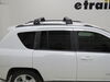 Thule AeroBlade Edge Roof Rack - Fixed Mounting Points/Flush, Factory Side Rails - Aluminum - Black Aluminum TH7602B-TH7602B on 2014 Jeep Compass