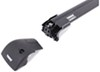 Thule AeroBlade Edge Roof Rack - Fixed Mounting Points/Flush, Factory Side Rails - Aluminum - Black Locks Not Included TH7603B-TH7604B
