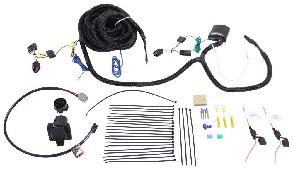 [TVPR_3874]  Tekonsha OEM Replacement Vehicle Wiring Harness w Brake Controller Adapter  - 7 Way Trailer Connector Tekonsha Custom Fit Vehicle Wiring TK22113 | 7 Way Wire Harness |  | etrailer.com