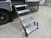 2015 northwood arctic fox fifth wheel rv and camper steps torklift towable fold-down step in use