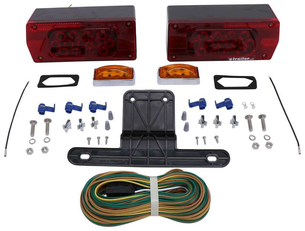 Trailer Lights TLL36RK - Rectangle,Kit - Optronics