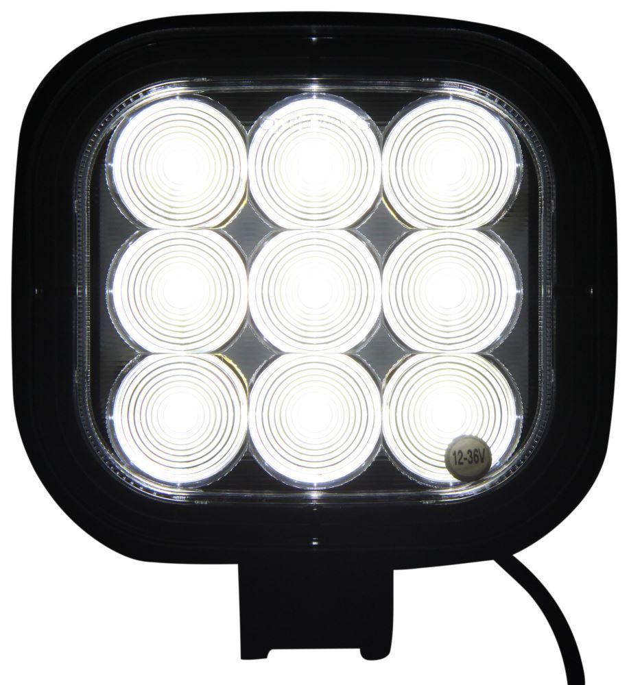 Opti-Brite LED Work Light - Flood Beam - 1,492 Lumens - Black Aluminum - Square - Qty 1 LED Light TLL46FB