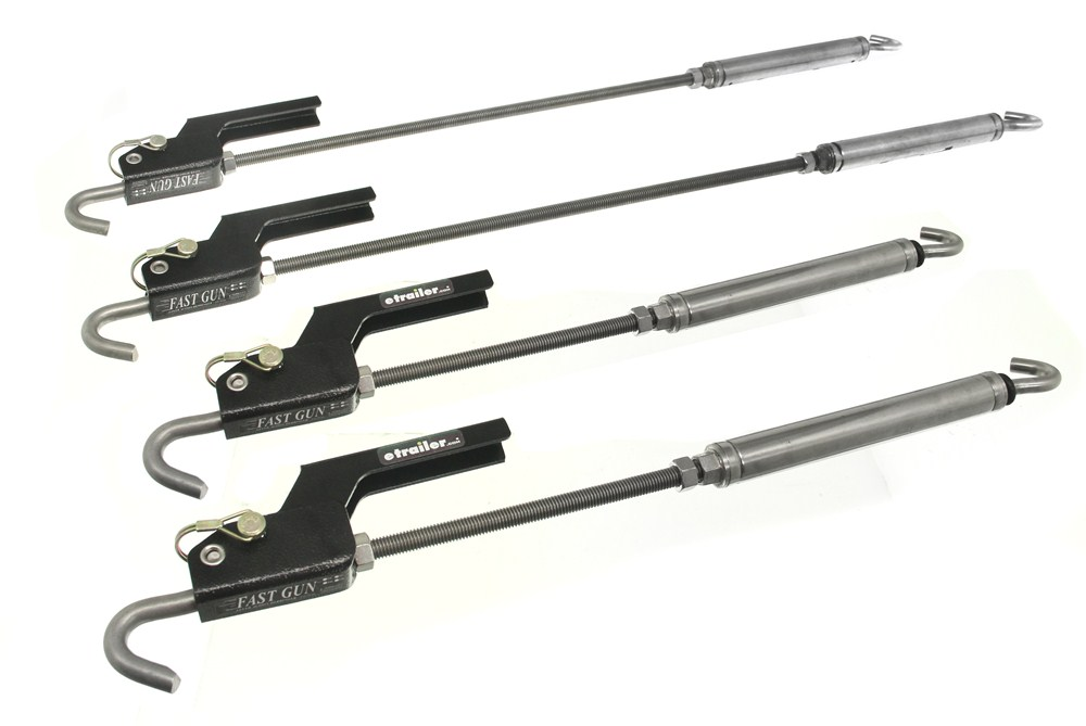 TorkLift AnchorGuard Derringer Turnbuckles for Truck Camper Tie-Downs - Stainless Steel - Qty 4 Locks Not Included TLS9020