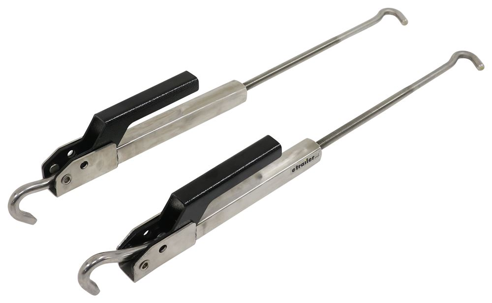 TorkLift FastGun Turnbuckles for Bed-Mounted Camper Tie-Downs - Polished Stainless Steel - Qty 2 Stainless Powder Coated Steel TLS9527