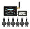 tireminder tpms sensor rv trailer flow through sensors i10 for rvs and trailers w/ signal booster - 6 tire