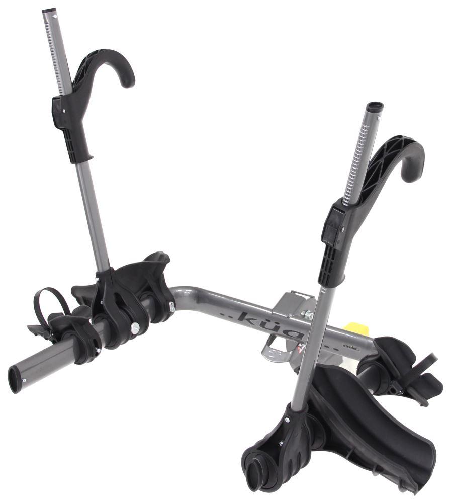"Kuat Transfer 2 Bike Platform Rack for Fat Bikes - 1-1/4"" and 2"" Hitches - Gray 2 Bikes TS02G-FB"