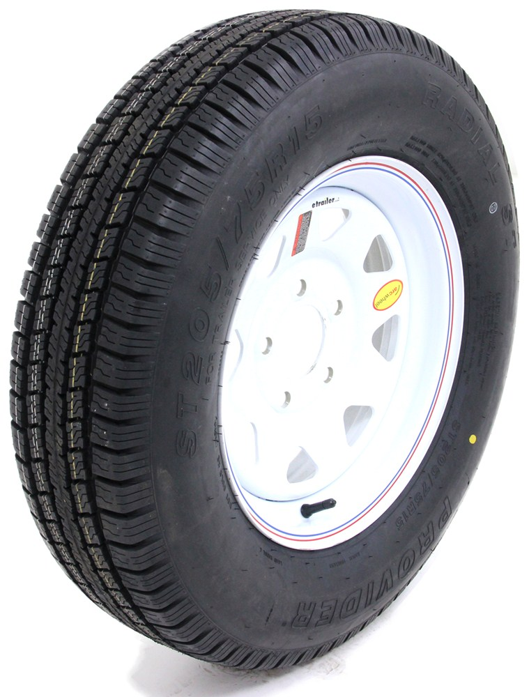Trailer Tires and Wheels TTWA15R5WS - Standard Rust Resistance - Taskmaster