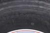 "Provider ST235/85R16 Radial Trailer Tire w/ 16"" White Spoke Wheel - 8 on 6-1/2 - LR G Radial Tire TTWA16RGWSHD"