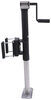 trailer valet jack side frame mount swivel - pull pin jxs w/ footplate and drill powered option sidewind 2k