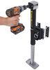 trailer valet jack side frame mount sidewind jxs w/ footplate and drill powered option - 2k