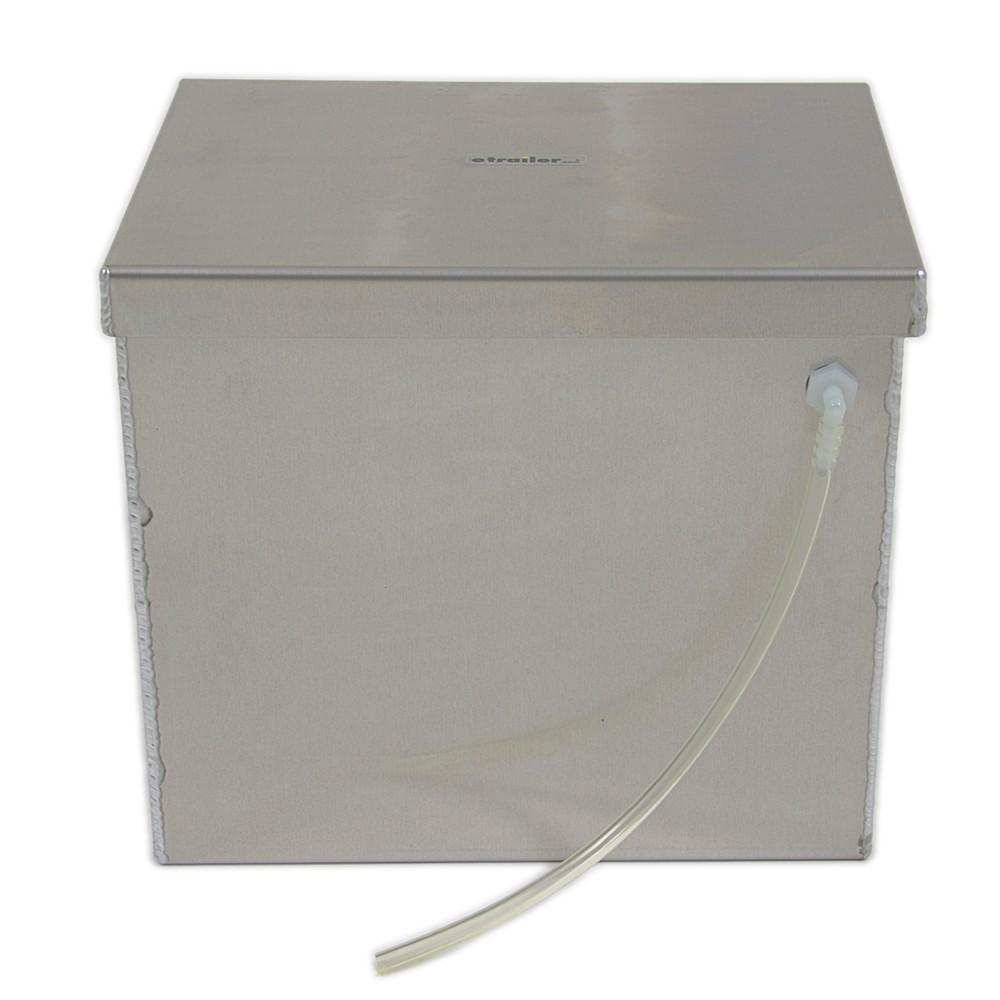 TWSP12B - Aluminum - Machine Finish Tow-Rax Trailer Battery Box,Camper Battery Box