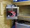 0  trailer cargo organizers tow-rax cabinets and shelves helmet shelf corner - aluminum 21 inch tall x 14-1/4 wide 15-3/4 deep