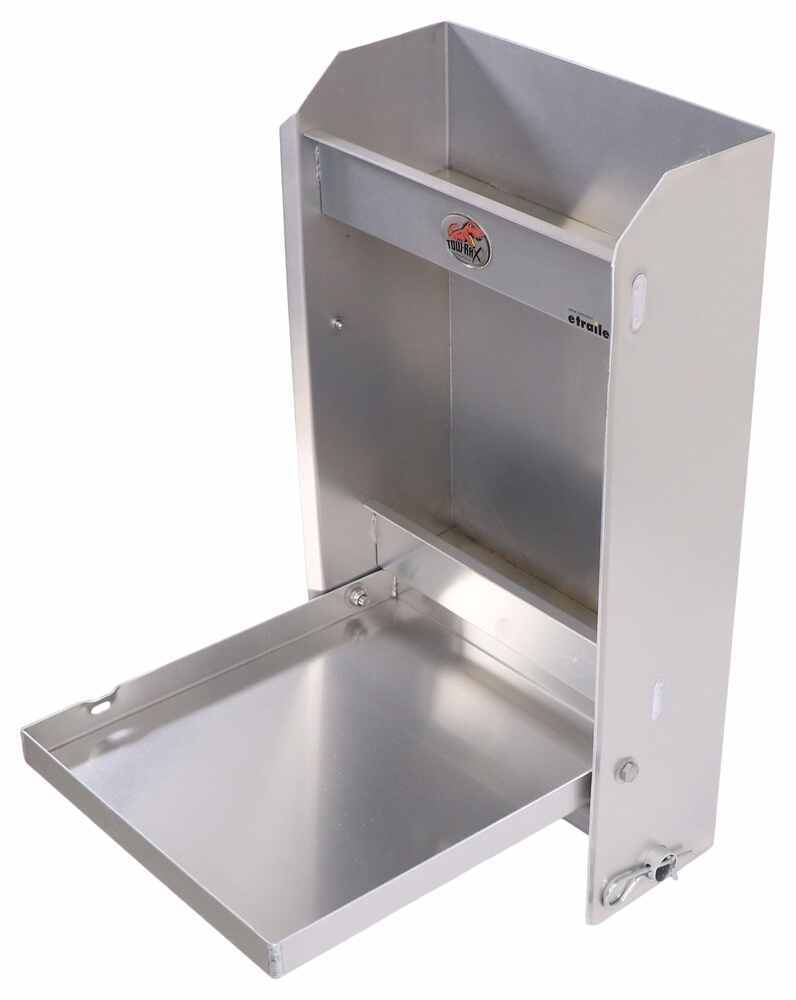 "Tow-Rax Aluminum Storage Cabinet w/ Folding Tray - 22"" Tall x 12"" Wide - Machined Finish Storage Cabinet TWSPJCA"