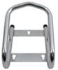 "Tow-Rax Removable Wheel Chock w/ Wood Screws - 6-1/2"" Wide Tires - Tubular Steel - Chrome Single Chock TWSPWC"