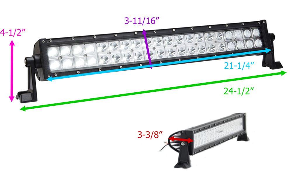 [ZSVE_7041]  Optronics LED Off-Road Light Bar - 4,521 Lumens - Mixed Beam - Double Row -  20-1/4