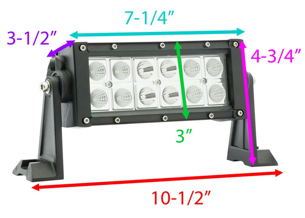 [SCHEMATICS_48ZD]  Optronics LED Off-Road Light Bar - 1,550 Lumens - Mixed Beam - Double Row -  9