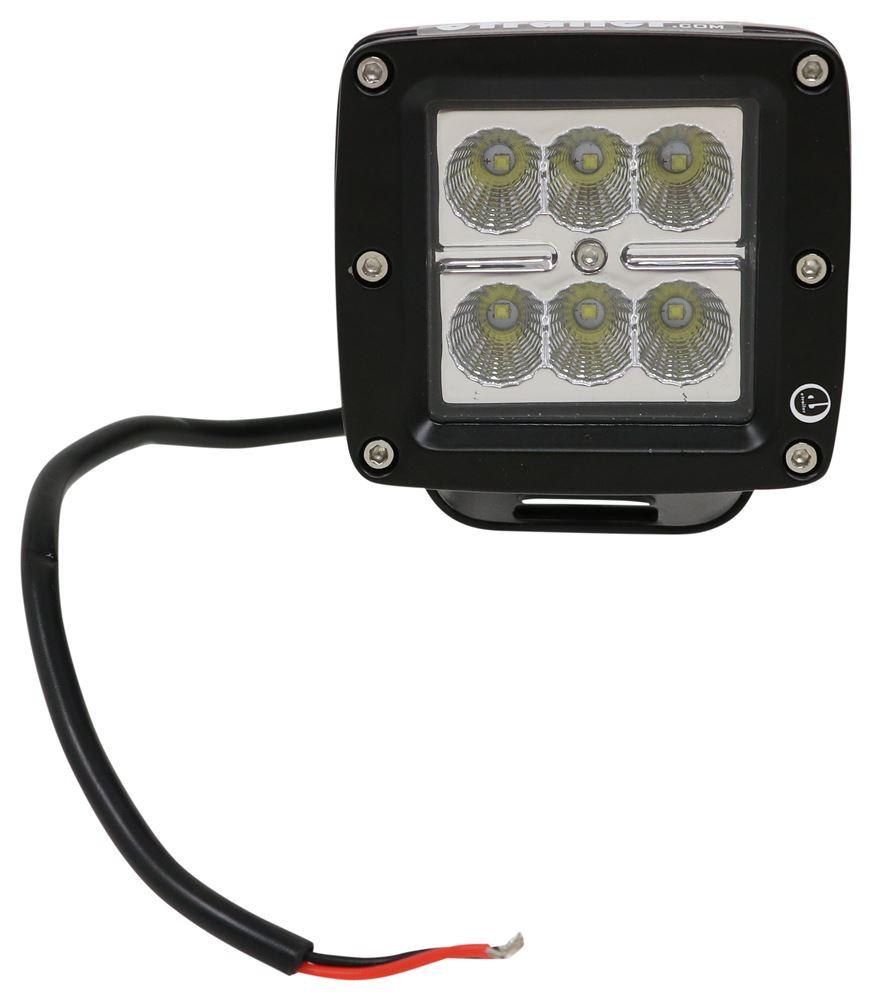 LED Work Light - Flood Beam - 780 Lumens - Post Mount - Black Aluminum - Square - Qty 1 White UCL24CB