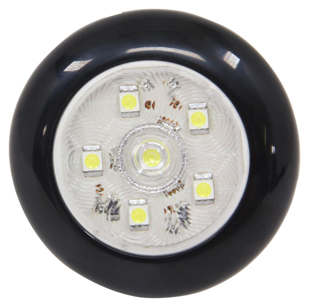 Optronics LED Utility Touch Light - Submersible - 168 Lumens - Round - Black Trim - Clear Lens LED Light UCL60CSBB