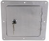 ultra-fab products rv exterior  universal access door for trailers and rvs - 5 inch x opening chrome