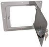 ultra-fab products rv exterior access hatches universal door for trailers and rvs - 5 inch x opening chrome