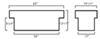 UWS00016 - 13-1/2 Inch Tall UWS Truck Tool Box
