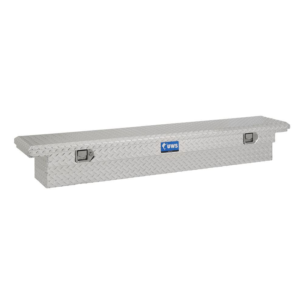 UWS Truck Bed Toolbox - Narrow Crossover - Low Profile - Slim Line - 3.5 cu ft - Bright Aluminum Aluminum UWS00156
