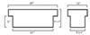 Truck Tool Box UWS00161 - Lid Style - Standard Profile - UWS