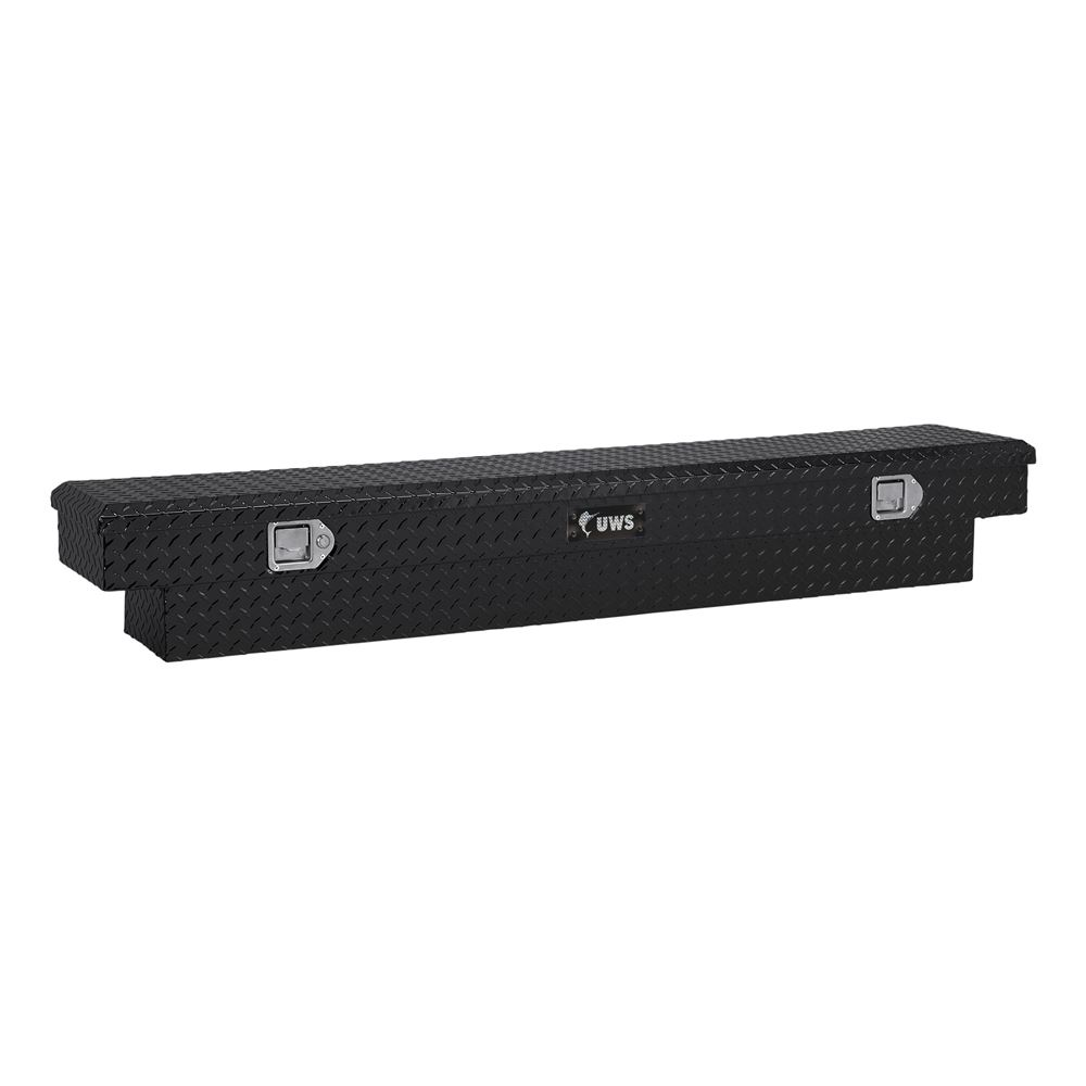 UWS Truck Bed Toolbox - Narrow Crossover - Slim Line Series - 3.4 cu ft - Gloss Black 9 Inch Tall UWS00333