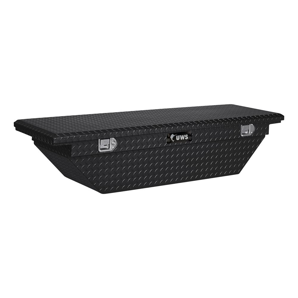 UWS Angled Truck Bed Toolbox - Crossover Style - Low Profile Series - 6.6 cu ft - Gloss Black 19 Inch Wide UWS00419