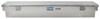 "UWS Truck Bed L-Shaped Side Rail Toolbox - Single Lid - 72"" Long - 3.9 cu ft - Bright Aluminum Aluminum UWS01605"