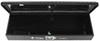 "UWS Truck Bed L-Shaped Side Rail Toolbox - Single Lid - 36"" Long - 1.9 cu ft - Gloss Black Side Mount Style UWS01622"