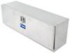uws truck toolbox side rail medium capacity bed - single door topsider 48 inch long 6.3 cu ft bright aluminum