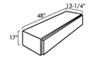 "UWS Truck Bed Side Rail Toolbox - Single Door Topsider - 48"" Long - 6.3 cu ft - Gloss Black Topsider Style UWS04013"