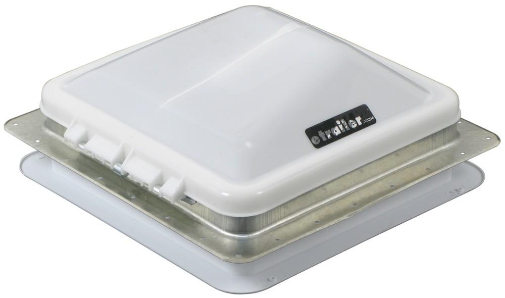 "Ventline Ventadome Trailer Roof Vent w/ 12V Fan - Manual Lift - 14-1/4"" x 14-1/4"" - White Manual Lift V2094SP-30"