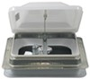 "Ventline Ventadome Trailer Roof Vent w/ 12V Fan - Manual Lift - 14-1/4"" x 14-1/4"" - White White V2094SP-30"
