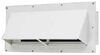 ventline rv vents and fans  exterior wall vent for range hood - locking damper 5/8 inch collar white