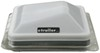 ventline rv vents and fans roof vent with 12v fan ventadome w/ - powered lift 14-1/4 inch x white