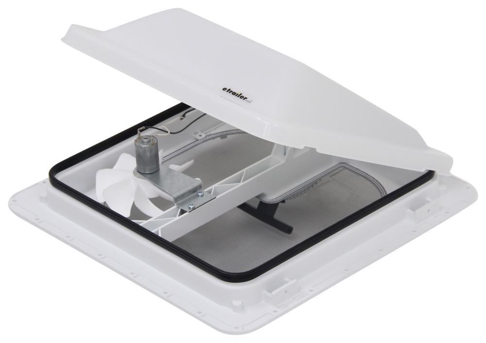 Ventline E-Z Lift Ventadome Trailer Roof Vent w/ 12V Fan - Manual Lift - White Vent V3094-601-00