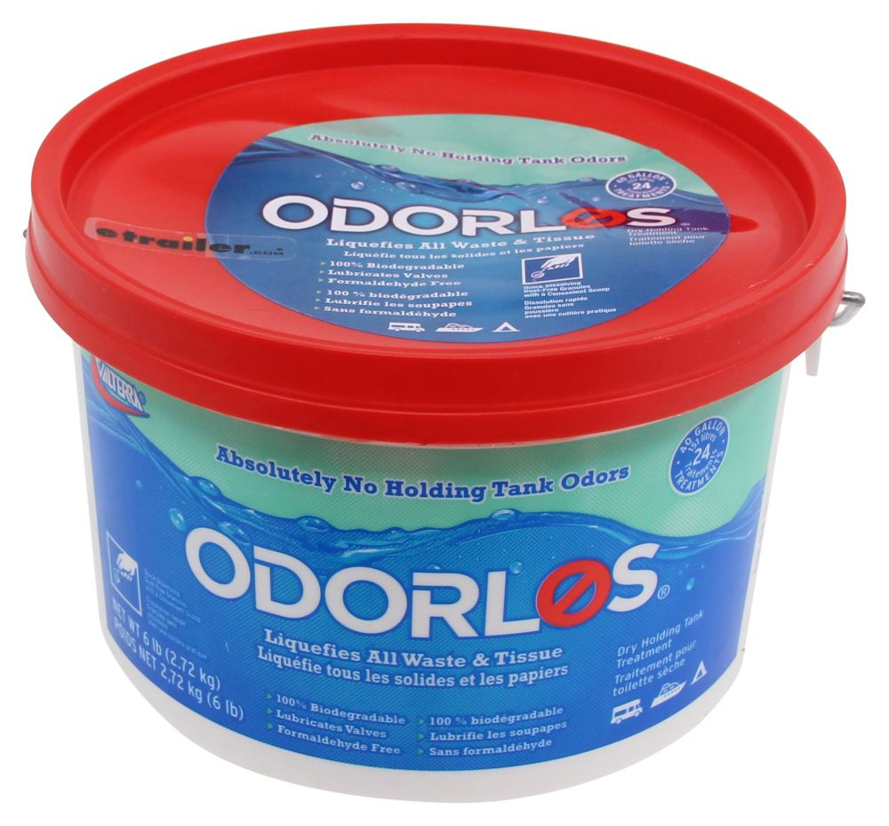 Odorlos Treatment for RV and Marine Holding Tanks - Scent Free - 6-lb Tub Scent Free V77012