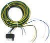 wesbar wiring  5 flat 5-pole connector - wishbone style trailer end 40' long