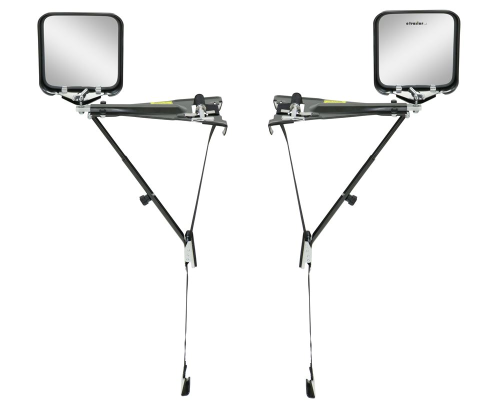 Wheel Masters Eagle Vision Universal Extendable Towing Mirrors - Strap On - Qty 2 Flat WM6600-2