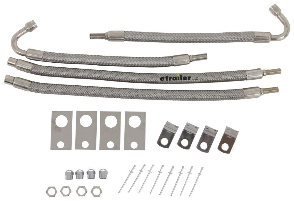 "Wheel Masters 4-Hose Inflation Kit - 16"" to 19-1/2"" Dually - Hub Mount - 135-Degree Bend 4 Pack WM8001-135"